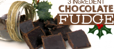 Quick 3 Ingredient Healthy Chocolate Fudge Recipe!