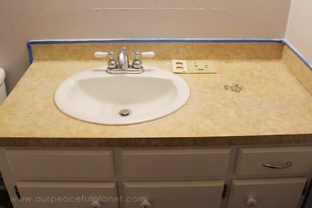Transform Your Bathroom For Only A Few Dollars With A Contact Paper  Countertop. Youu0027