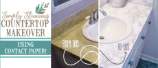 How to do a Sturdy & Stunning Granite Contact Paper Countertop Makeover