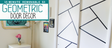 15 Minute Removable $3 Geometric Door Decorations