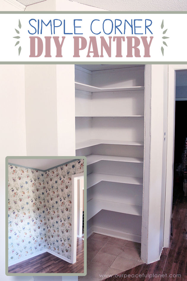 Add space convenience with a simple diy pantry for Simple diy kitchen ideas
