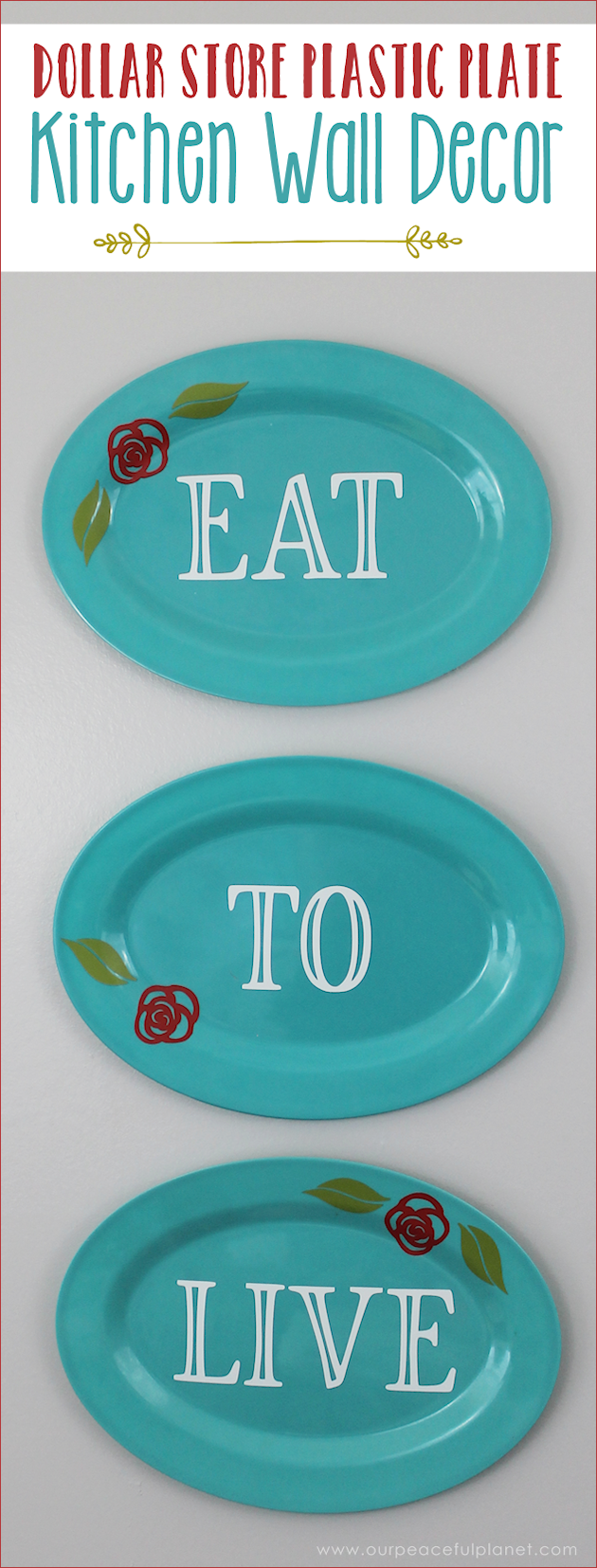 Darling Dollar Store Plastic Plate Kitchen Wall Decor ·