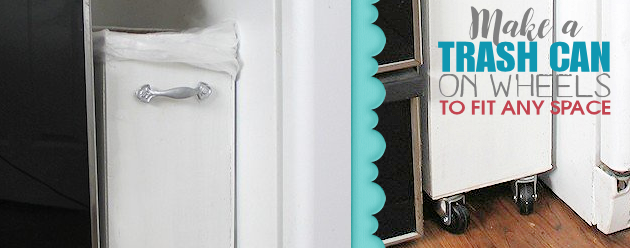 Fit Crafty Stylish And Happy Guest Bathroom Makeover: Make A Kitchen Trash Can On Wheels To Fit Any Spot
