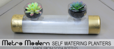 Metro Modern Self Watering Planters from Soda Bottles