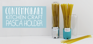 Sometimes the simplest things can be the most useful. These tall pasta containers come from our Contemporary Kitchen Craft Series and are so easy to make!