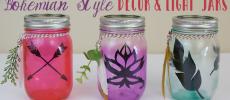 DIY Bohemian Style Jars & Free Printables