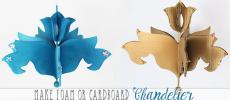 Make a Foam Board or Cardboard Chandelier (Free Pattern)