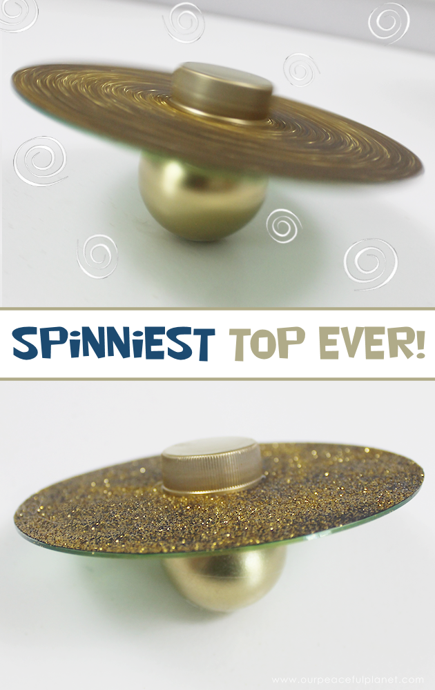 Spin tops might be old fashioned but these custom tops made from a CD a ping pong ball and a soda lid are a blast played in a group, and they spin forever!