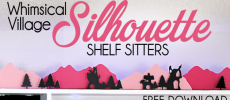 How to Make Whimsical Paper Town Shelf Sitters for Pennies!