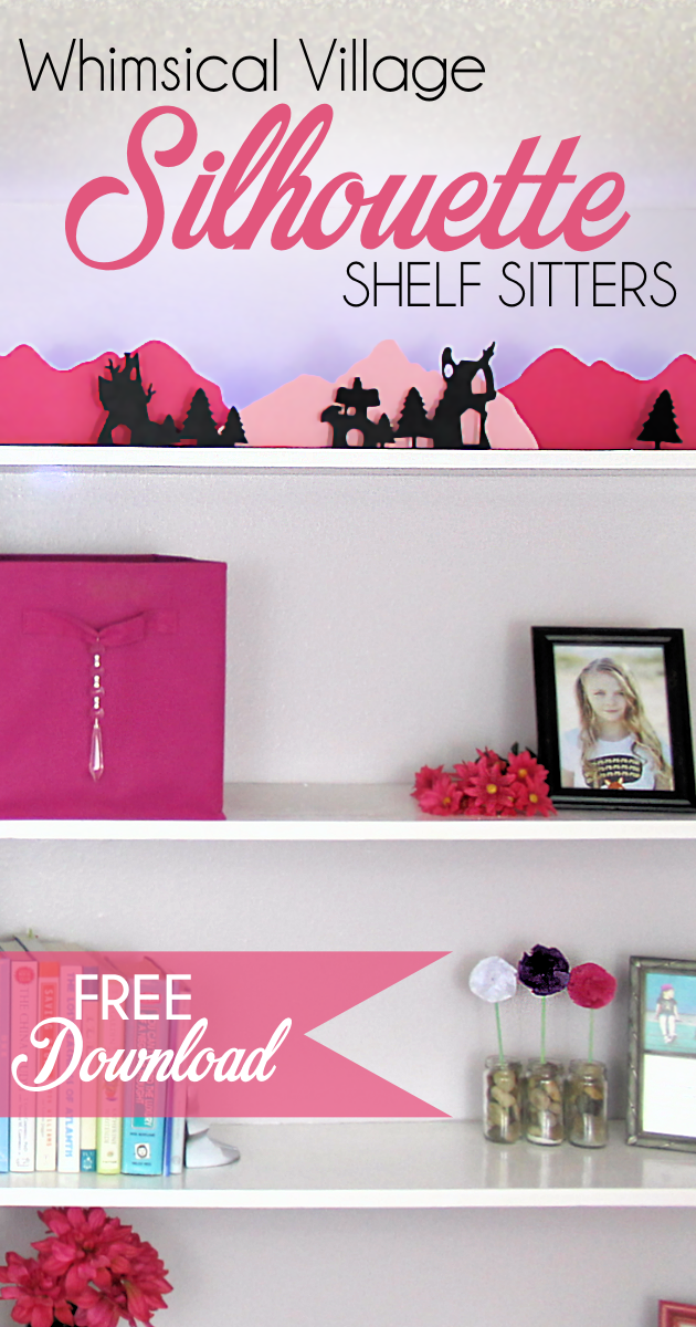 Grab the free printables and make these unique and inexpensive paper town shelf sitters! They will add a bit of whimsy to any room and only cost pennies.