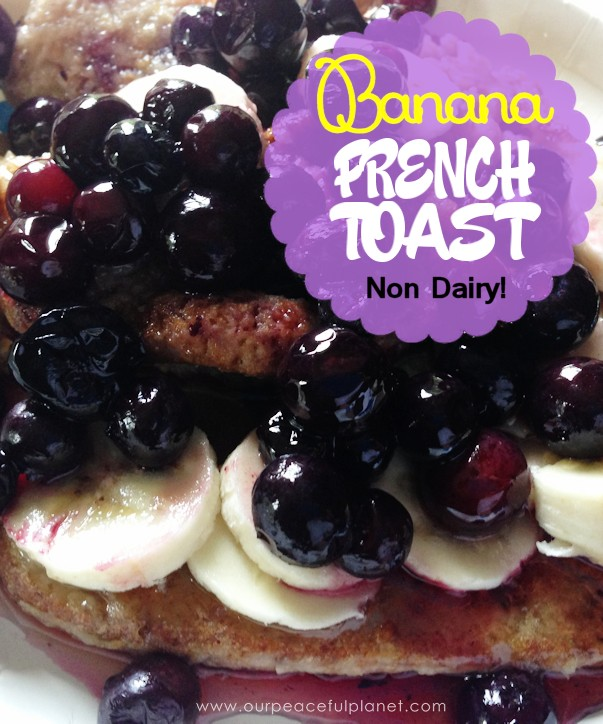 This HEALTHY FRENCH TOAST is gonna have your drooling! It's gooey and sweet and healthy!  Top it with fresh bananas, blueberries or any other fruit you like and some agave nectar or pure maple syrup. Then do your best to not to feel guilty when you eat it because there's no need!