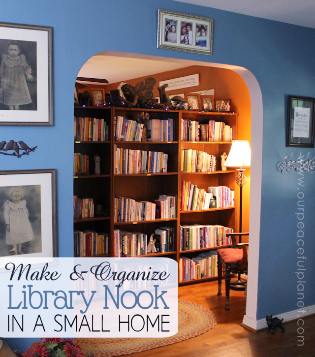 Groovy Make A Library Nook In A Small Home Organize It Largest Home Design Picture Inspirations Pitcheantrous