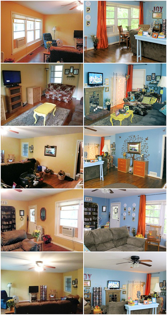 Whimsical Living Room Before and After