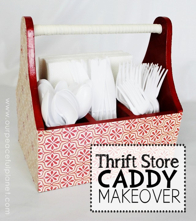 Thrift Store Caddy Makeover