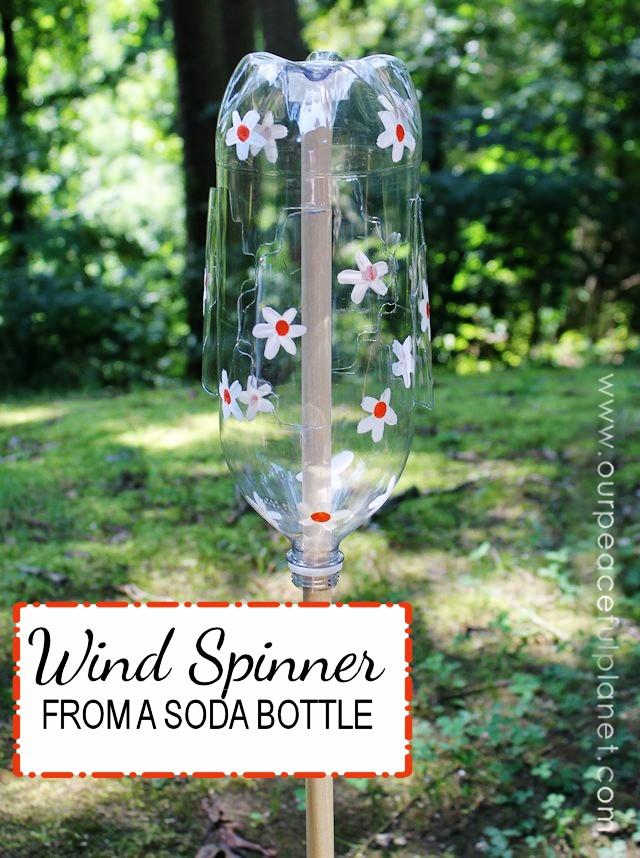 Fun Wind Spinner From a Soda Bottle