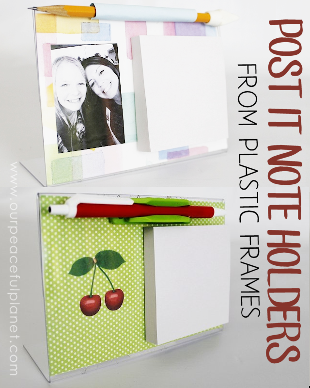 Post It Note Holder From Plastic Frame