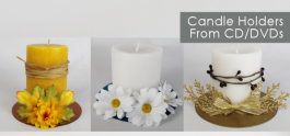 Candle Coasters From CDs