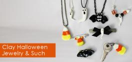 Simple Halloween Clay Jewelry Etc.