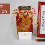 Gratitude Jar Activity Table Decor