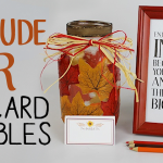 Gratitude Jar Activity Table Decor