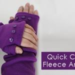 Quick Fleece Arm Warmers Tutorial & Pattern