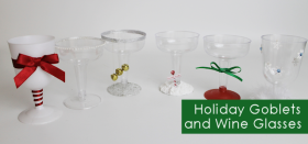 Christmas Holiday Goblets (Plastic)
