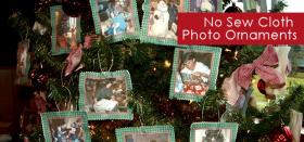 No Sew Cloth Photo Ornaments