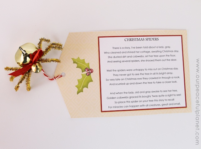 Delicate image pertaining to legend of the christmas spider printable