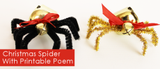 The Christmas Spider DIY : Free Poem Printable