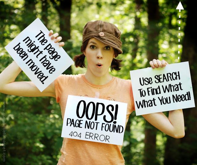 404 Error Page Amy