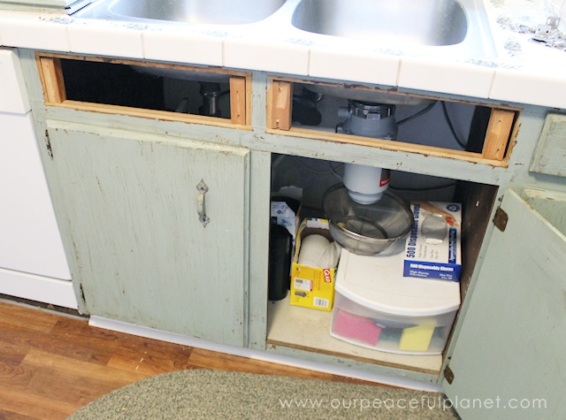 Tip out hidden sink drawer for Premade kitchen drawers