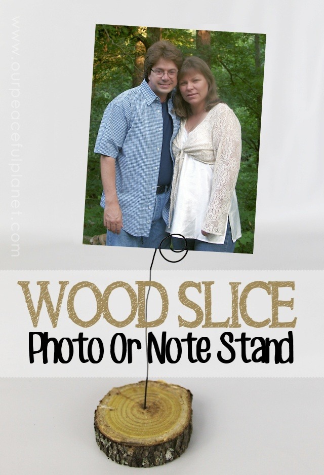 Wood Slice Photo or Note Stand 2b