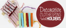 Decorative Clothespins with Holders