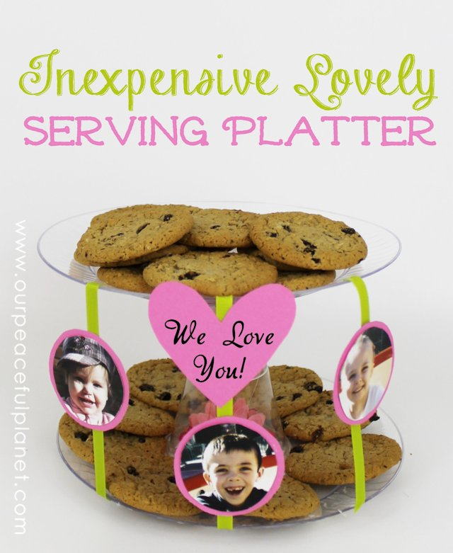 Inexpensive Lovely DIY Platter From Dollar Store Items 3