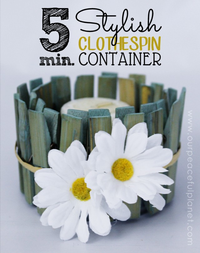 Stylish Clothespin Container