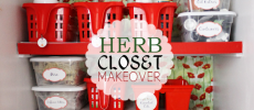 Inexpensive Herb Closet Makeover!