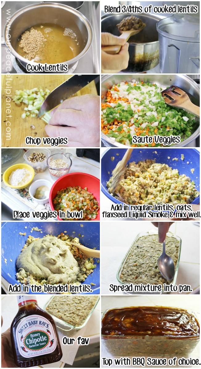 Scrumptious Veggie Lentil Meatless Meatloaf Stepsr