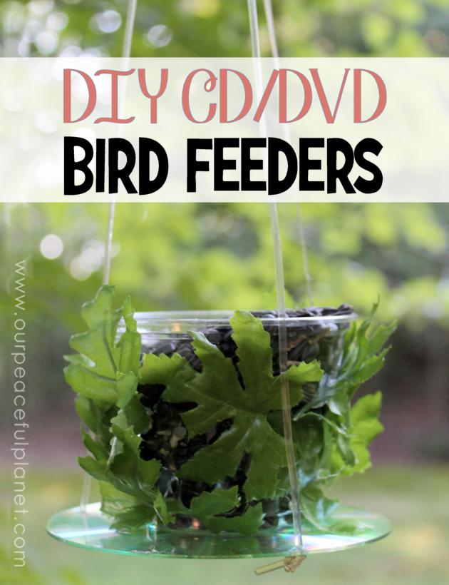 CD DVD Bird Feeders DIY