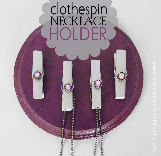 Clothespin Necklace Holder SQ
