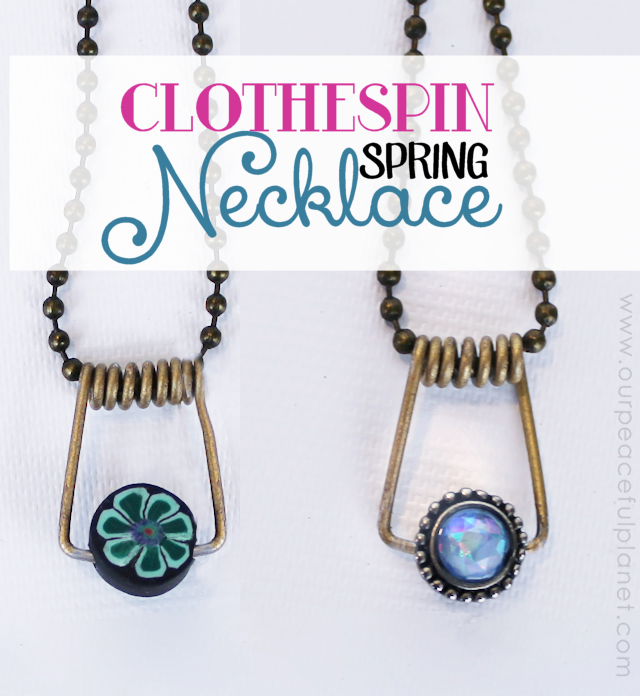 Clothespin Spring Necklace