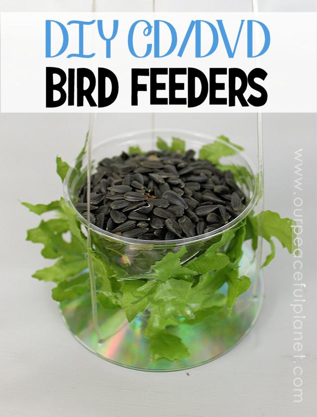 DIY CD DVD Bird Feeders
