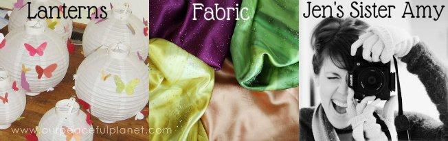 Lanterns Fabric and Photographer
