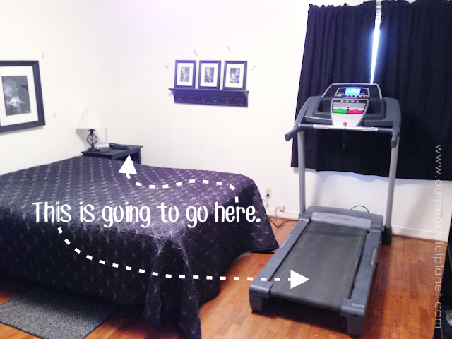 A Treadmill Nook For Small Spaces 1