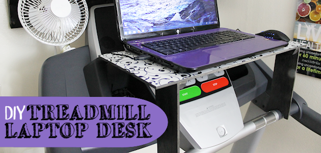 DIY Treadmill Laptop Desk FE