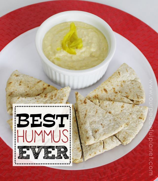 This is indeed the BEST HUMMUS EVER! If you've never liked hummus you need to try this one. It's quick and easy and oh so healthy for you! Eat it on a sandwich, with veggies or on toasted pita wedges.