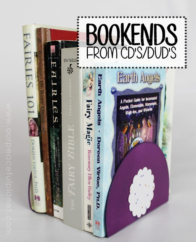attractive Homemade Bookends Part - 11: Quick DIY Bookends Made from CDs