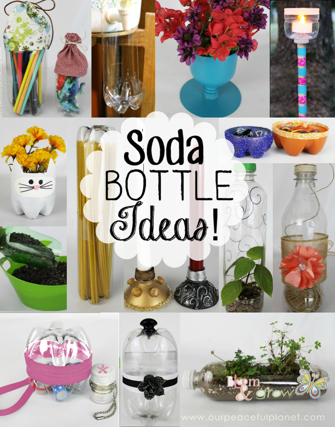 The best and most unique plastic bottle crafts anywhere! We used soda bottles for most of ours but any plastic bottles work great!