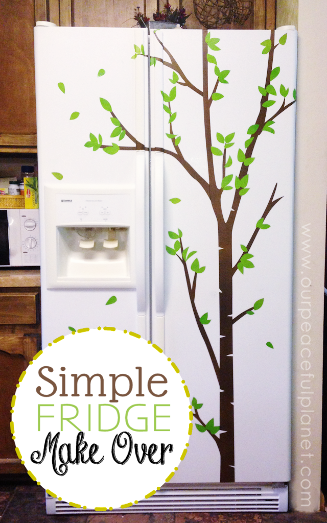 Do you have an older fridge that looks less than lovely anymore? Here's an inexpensive and fairly easy way to give it a face life! With a little wall vinyl you can transform it into something totally awesome! We also have a recipe for how to whiten up those plastic handles that have yellowed.
