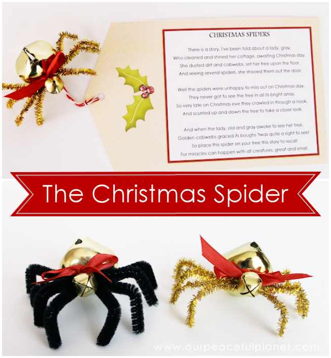 picture regarding Legend of the Christmas Spider Printable named The Xmas Spider Do it yourself : Cost-free Poem Printable
