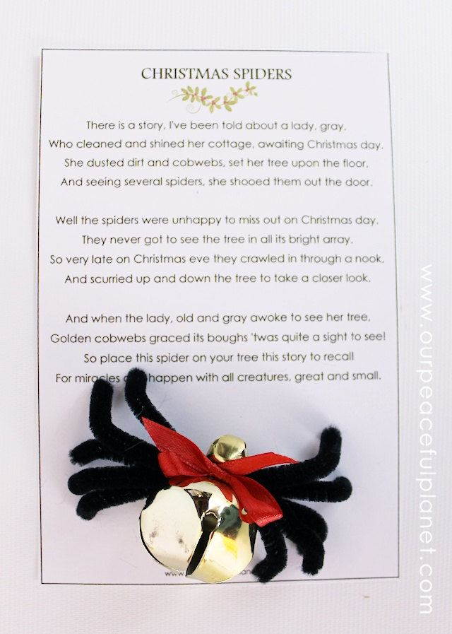photo about Legend of the Christmas Spider Printable named The Xmas Spider Do-it-yourself : Totally free Poem Printable